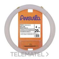 ANGUILA 12004005 PASACABLES INTERCAMB.NYLON 4mm 5m NAT.